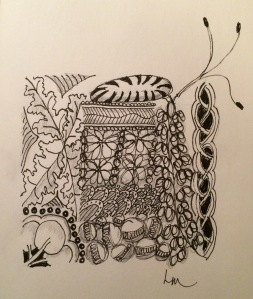 Day 26L Long day Zentangle