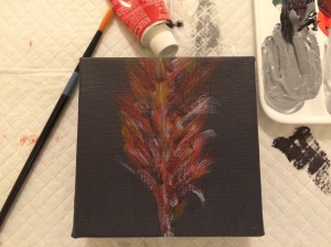 Day 50: Feather...maybe from a grandfather cardinal