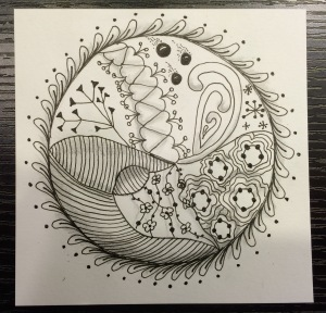 Day 34: Zen Mandala for my niece Malorie