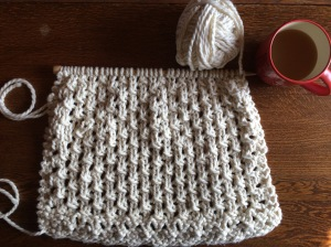 Day 44: Apple cider and super-bulky yarn - unfortunately just a little too short.