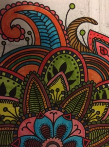 Day 33: Daphne's Diary Coloring Book (brush tip markers)