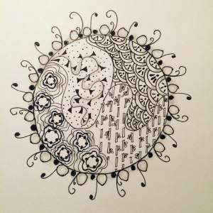 Day 42: Quiet recharging mandala