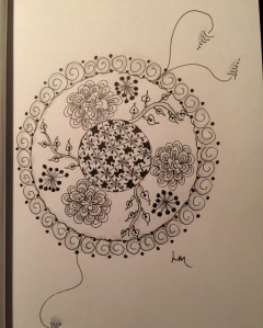 Day 57: Happy mandala for a happy evening