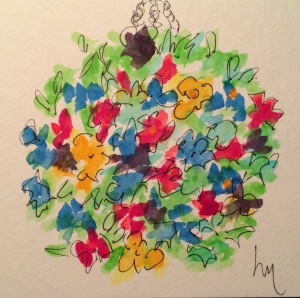 Day 74: Rounded, hanging flower basket