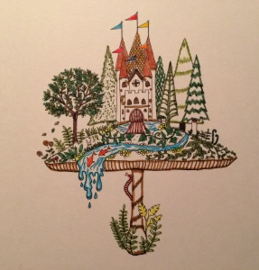 Day 70: Enchanted Forest postcard, Johanna Basford artist