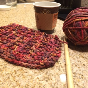Day 61: Favorite yarn. Favorite pattern. Love the colors as well.