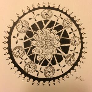 Day 64: Happily inspired Mandala