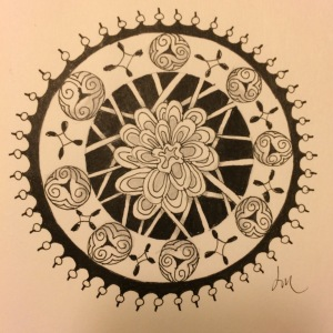 Day 64: Happily inspired Mandala