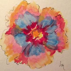 Day 73: watercolor hibiscus
