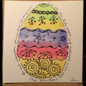Day 86: Watercolor Easter egg