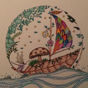 Day 94: Coloring - Johanna Basford illustration
