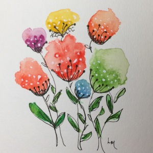 Day 120: watercolor, pen, gouache